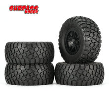 SURPASS HOBBY 4Pcs 4006 110mm Short Truck Tyre for 1/10 Off-road Crawler Racing RC Car Model Spare Parts Accessories