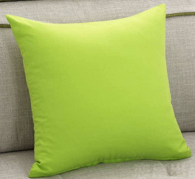 line Shop Green Solid Color Sofa Cushion covers Simple Style