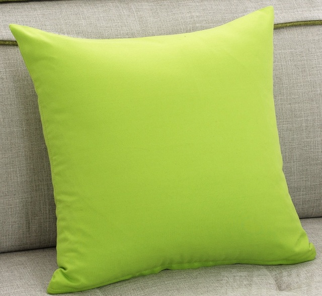 Green Solid Color Sofa Cushion Covers Simple Style Throw Pillows Cases Home Decorative Kids