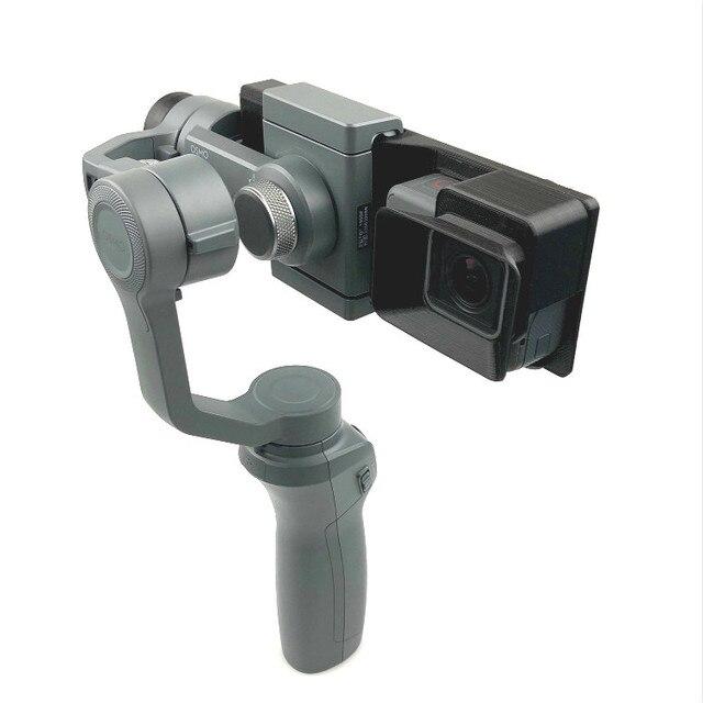 GoPro HERO 5/6/7 ยึดกล้อง Action Camera แผ่นคลิปผู้ถือ DJI OSMO MOBILE 1 2 Handhold Gimbal Stabilizer Access