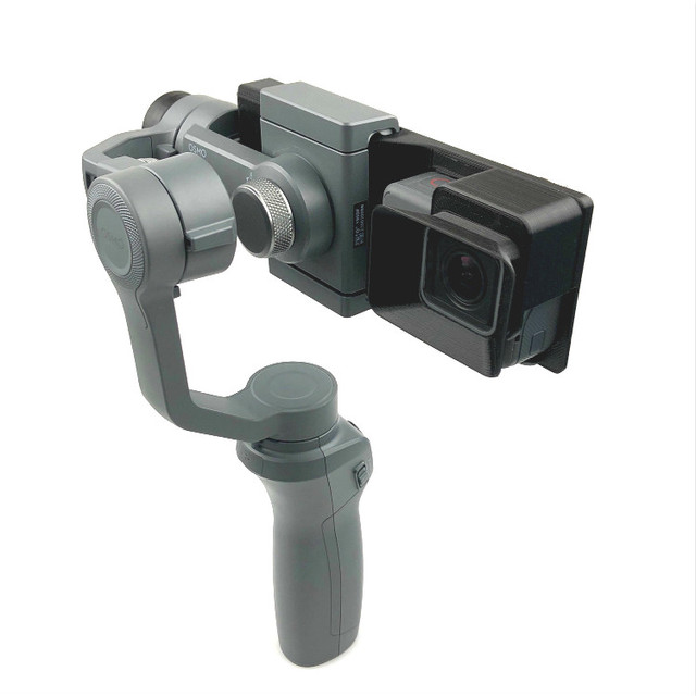 Gopro Hero 5/6/7 Action Camera Mount Bracket Plate Clip Adapter Holder To DJI OSMO Mobile 1 2 Handhold Gimbal Stablizer Access