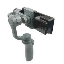 Gopro Hero 5/6/7 kamera akcji uchwyt mocujący płyta klip uchwyt adaptera do dji osmo mobile 1 2 uchwyt Gimbal Stablizer Access