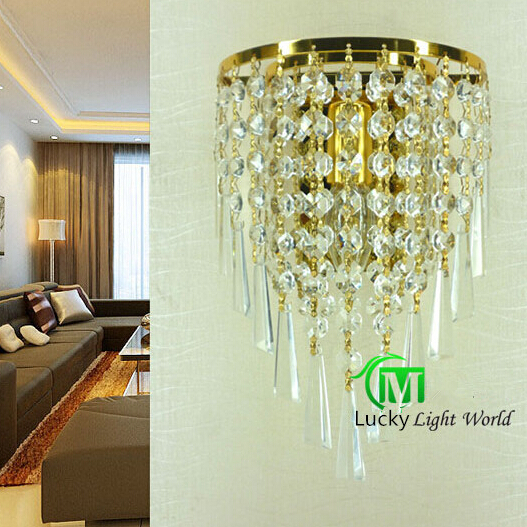free shipping Bedroom wall lamp modern single-head bedside lamp k9 crystal wall mounted light wall sconce with switch free shipping chrome finish modern wall lamp bedroom sconce with cylinder crystal lamp shade