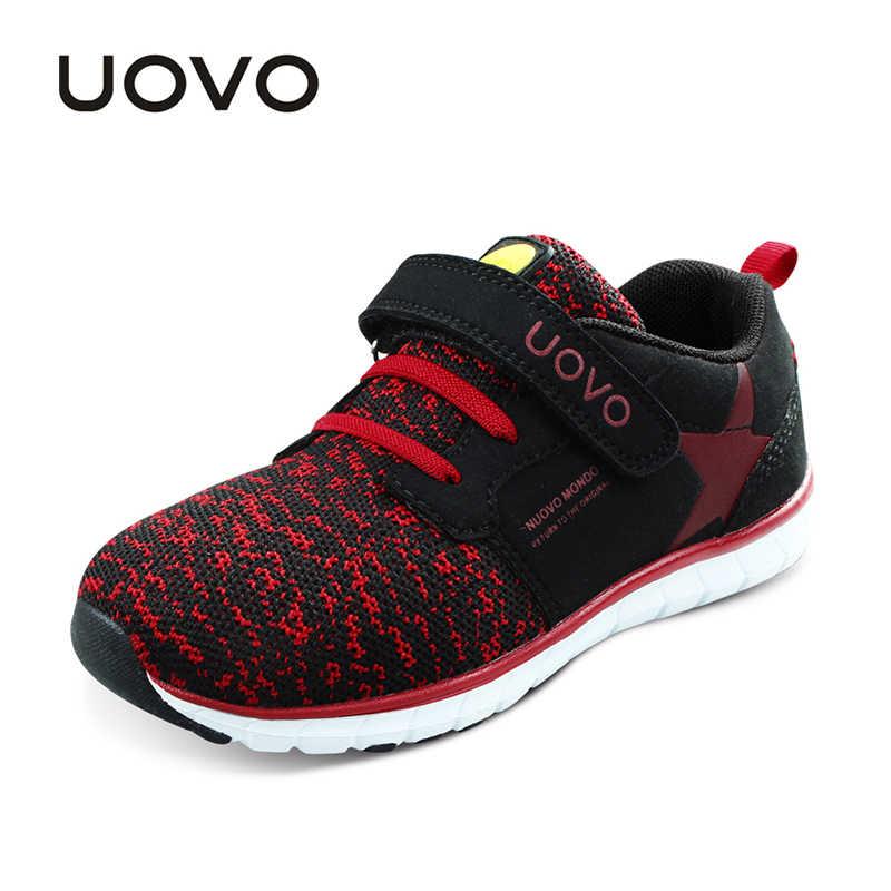 UOVO ילדים החדשים נעליים לנשימה אביב סתיו נעלי בני בנות אור-משקל בלעדי ילדי נעלי גמיש נעליים עבור ילדים