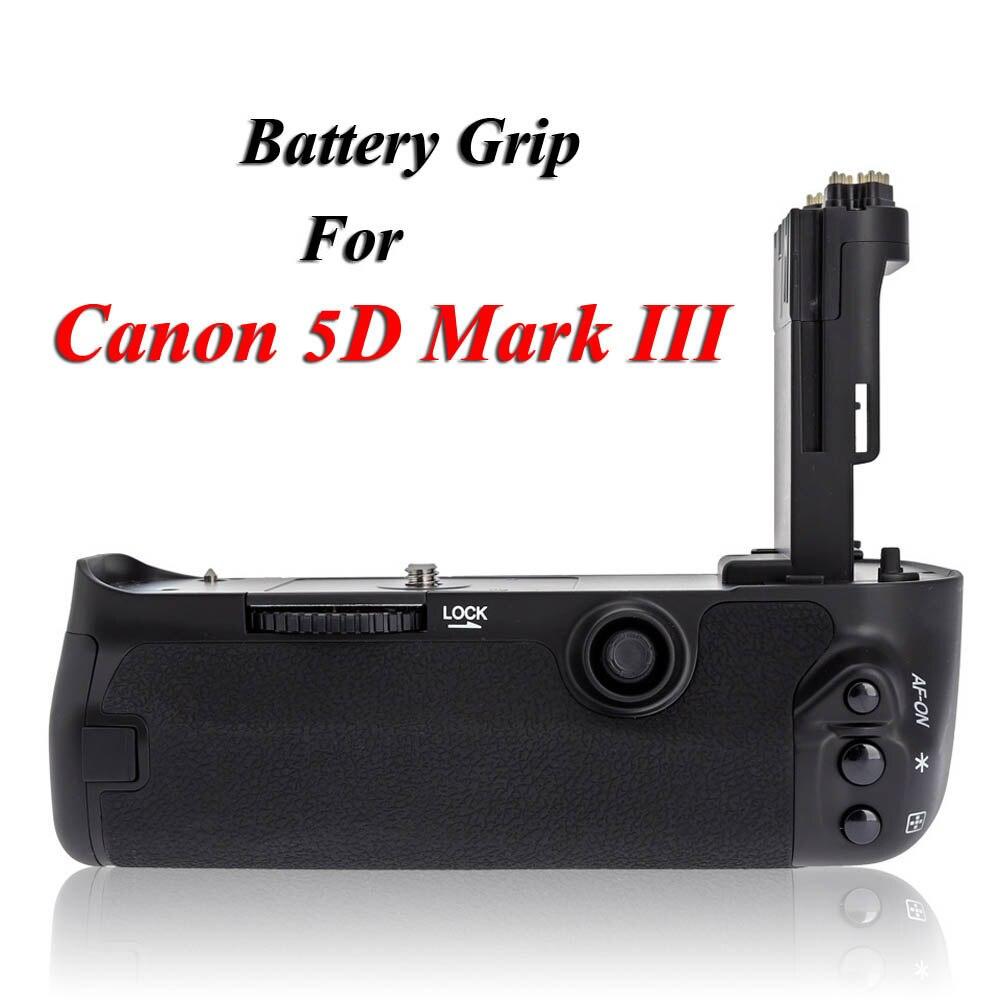 MK-5D3 poignée de batterie verticale multi-puissance support de batterie pour Canon 5D Mark III 5D3 5 DIII DSLR caméra comme BG-E11 BGE11