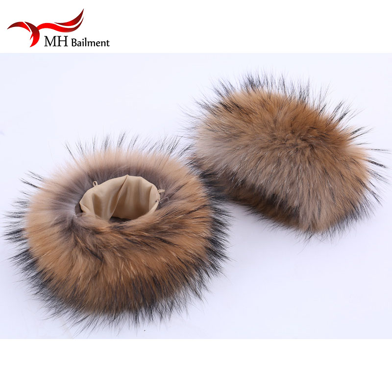 Raccoon Fur Cuffs Genuine Fur Cuff Arm Warmer Lady Bracelet Real Fur Wristband Glove Raccoon Fur Cuffs Arm Warmers