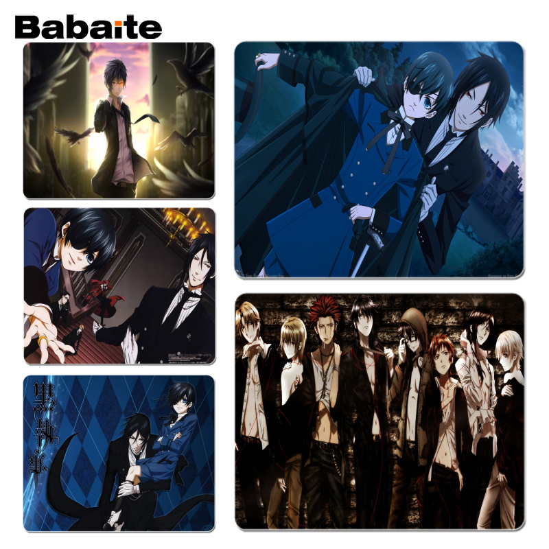 Babaite Non Slip PC Black Butler Comfort Mouse Mat Gaming Mousepad Size for 18x22cm 25x29cm Rubber Mousemats