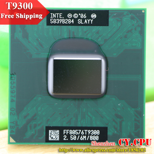 Free Shipping intel CPU laptop Core 2 Duo T9300 CPU 6M Cache/2.5GHz/800/Dual Core Socket 479Laptop processor for GM45/PM45-in CPUs from Computer & Office on