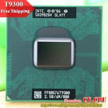 무료 배송 인텔 cpu 노트북 코어 2 듀오 t9300 cpu 6 m 캐시/2.5 ghz/800/듀얼 코어 소켓 479 노트북 프로세서 gm45/pm45 용