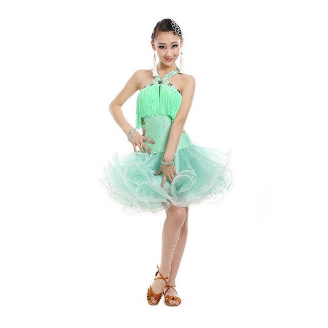 Rot blau grün mädchen latin dance kostüme quaste Sexy latin salsa ...