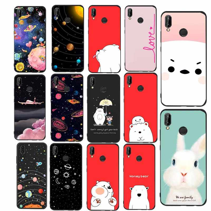 Simple Silicone Case For Huawei Mate 10 lite Case Cover For Huawei P20 lite P9 P10 P8 Lite 2017 P smart p9 lite mini Coque Capa