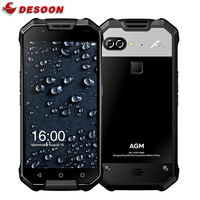 AGM X2 водонепроницаемый смартфон с IP68 Snapdragon653 двойной камеры 16MP 6 ГБ Оперативная память 64 ГБ Встроенная память 6000 мАч 5,5 FHD Android 7,1 NFC мобильного