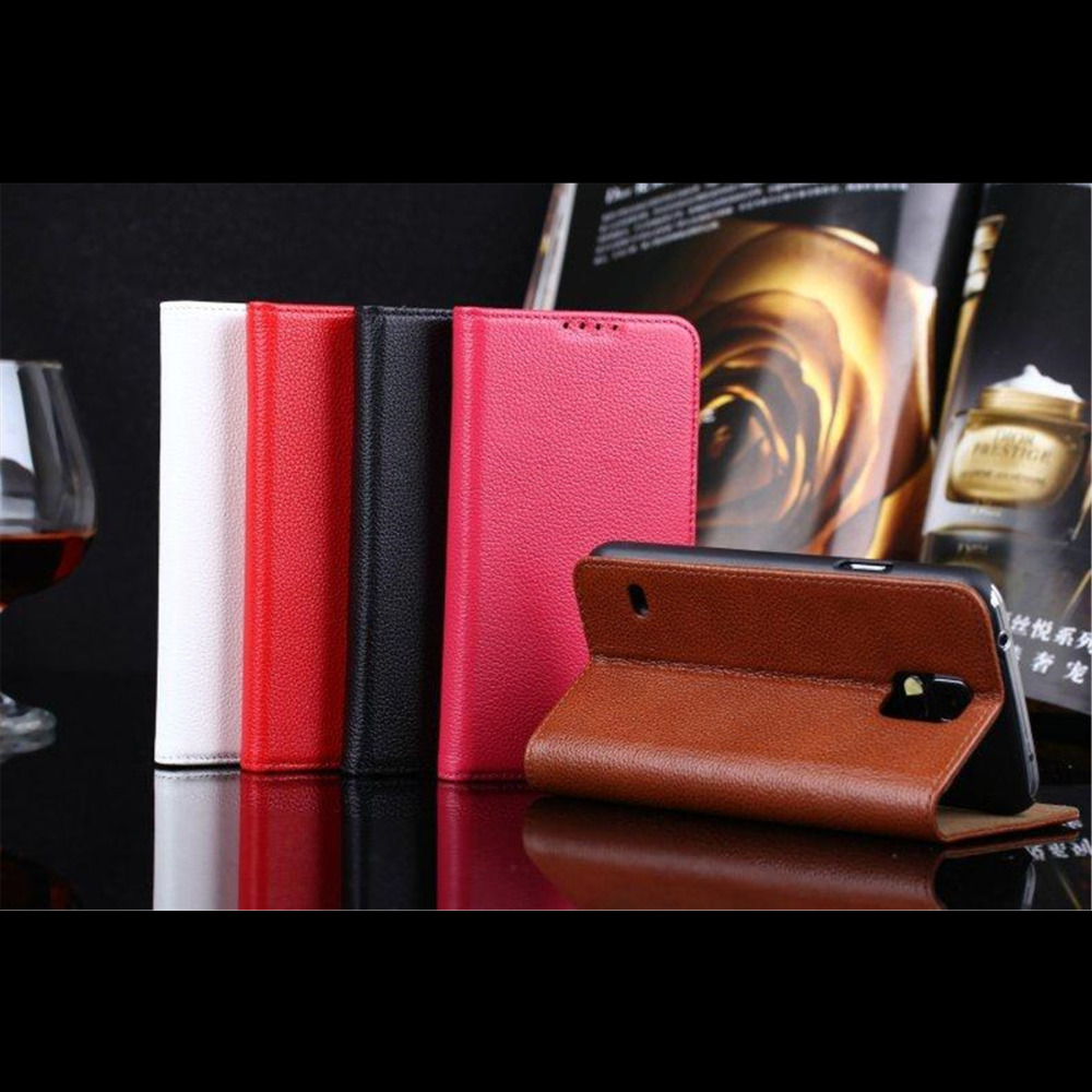 Coque Leather Cases For Samsung Galaxy S5 i9600 Genuine Leather Cover Mobile Phone Accessories Flip Card Slot Leisure Style Capa