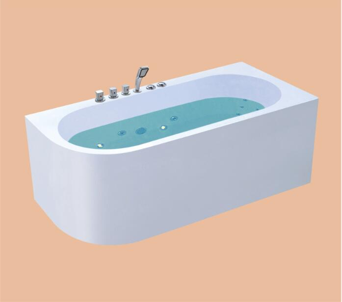 1700mm Fiberglass whirlpool Bathtub Acrylic HydromassageSurfing Bubble Mixer Tub NS3001B