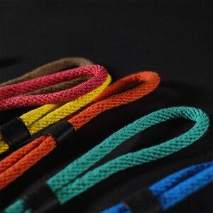 Image 4 - Cam in WS022 Cowskin i taśma bawełniana pasek na nadgarstek do trzymania kamery skóra DSLR spire lamella smycz na rękę akcesoria fotograficzne 10 kolorów