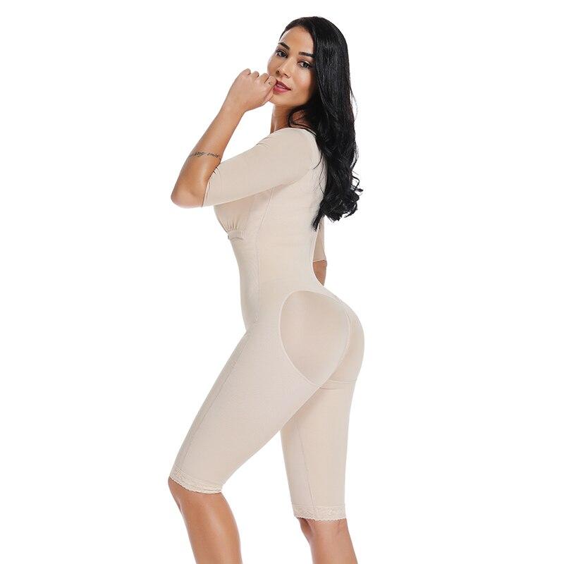 Image 4 - Slimming Bodysuit Body Shaper Post Surgery Seamless  Compression Garment Full Shapewear Colombianas Reductoras-in Bodysuits from Underwear & Sleepwears