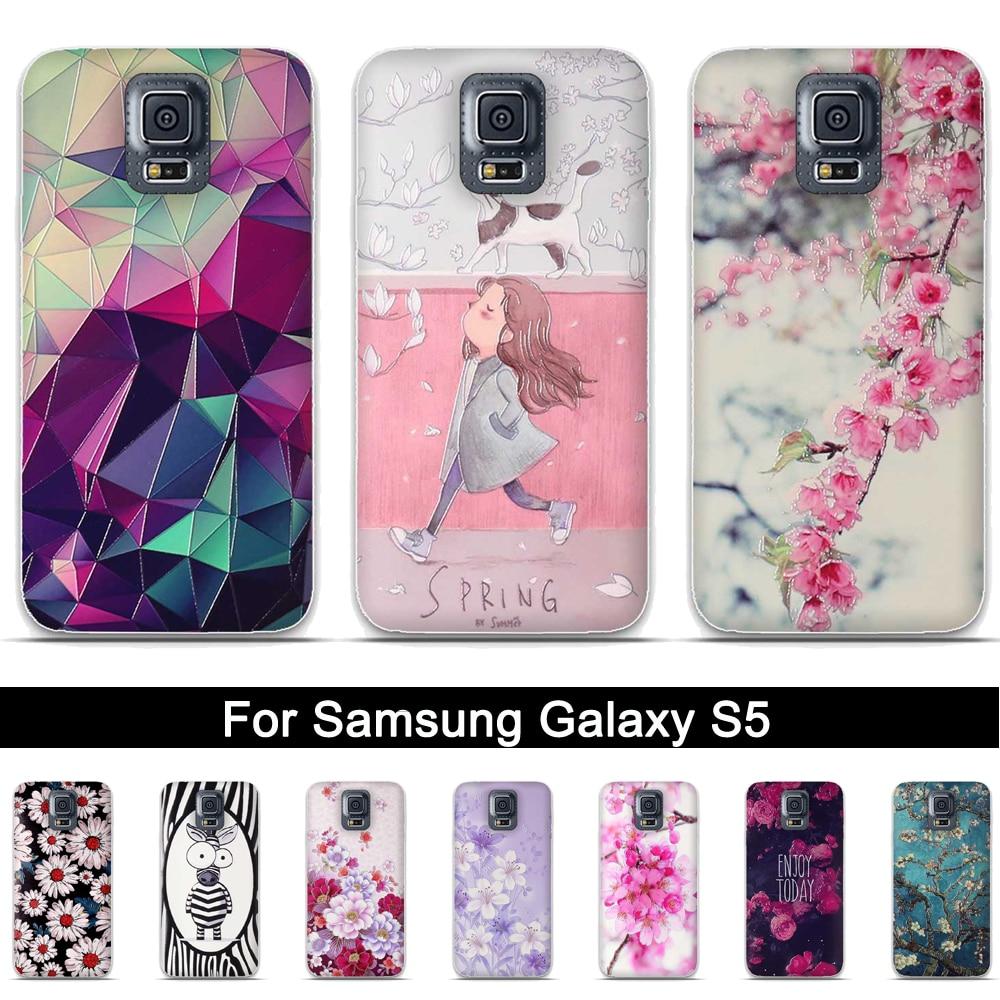 For Samsung Galaxy S5 Case 3D Cartoon Gel Soft Silicone Painted Phone Case For Samsung Galaxy S 5 i9600 Neo Case Cover Coque