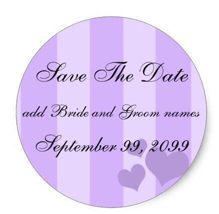 1 5inch purple hearts and stripes save the date reminders classic round sticker in stationery sticker from office school supplies on aliexpress com