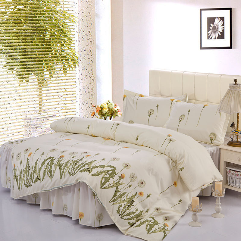 Good Quality Set Lower Linen Bedsheet Brands Three Size Comforter Quilt Bed 4pcs Bedding Bedspread Cover Skirt