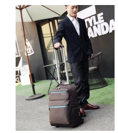 20นิ้วกันน้ำรถเข็นเดินทางกระเป๋าเป้สะพายหลังความจุขนาดใหญ่กระเป๋าเดินทางล้อเป้ดำเนินการเกี่ยวกับกระเป๋าผู้ชายรถเข็นกระเป๋าสำหรับแล็ปท็อป-ใน กระเป๋าเดินทาง จาก สัมภาระและกระเป๋า บน   2