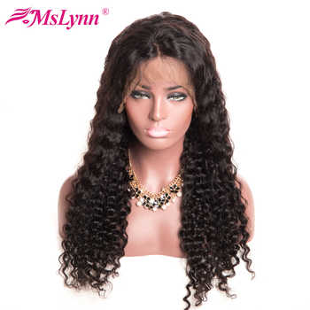 Mslynn Deep Wave Wig Pre Plucked Lace Wig Glueless Full Lace Wigs Human Hair With Baby Hair 180% Density Wigs For Women Remy #1B - DISCOUNT ITEM  46% OFF All Category