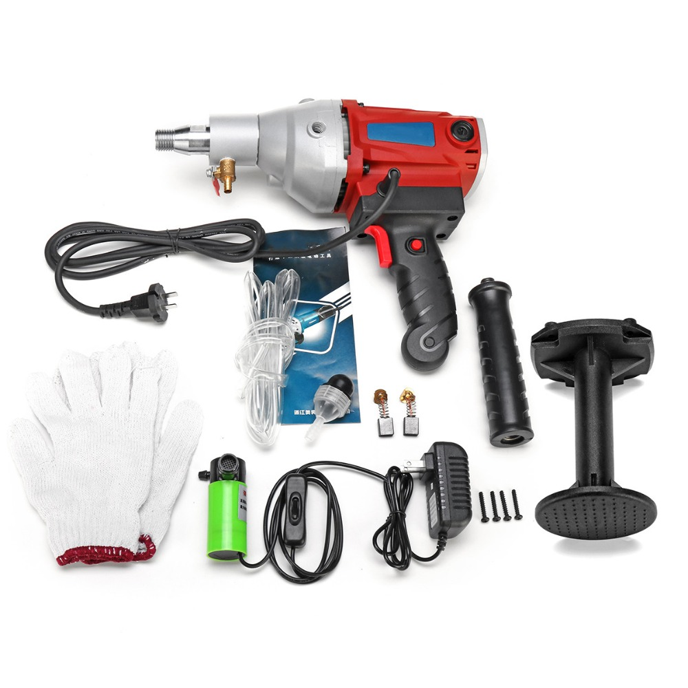 Electric Core Drill 2100W 220V 120mm Stepless Speed Concrete Diamond Handheld Core Drill Wet Concrete Core Drilling MachineElectric Core Drill 2100W 220V 120mm Stepless Speed Concrete Diamond Handheld Core Drill Wet Concrete Core Drilling Machine