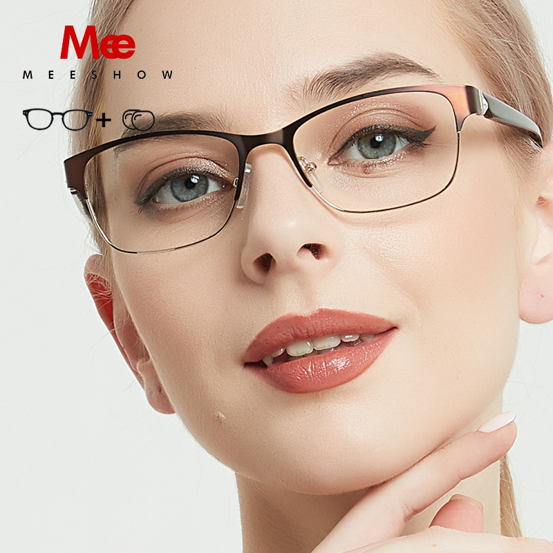 Meeshow Titanium Alloy prescription glasses Men women's progressive Vintage cat frame