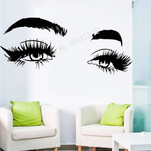 Wall Art Sticker Make Up Decor Vinyl Poster Removeable Decoration Eyelashes Extensions Mural Beauty Salon Decoration LY378 art wall sticker lashes salon eyelashes decor vinyl removeable beauty salon decoration make up extensions eyebrows decal ly265