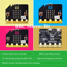 Elecrow BBC Micro:Bit Micro-Controller with 25 individually-programmable LED Micro Bit Board Motion Sensors for Kids Creative
