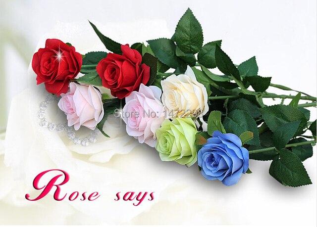 Hot artificial silk flower rose wedding fake colorful single bloom hot artificial silk flower rose wedding fake colorful single bloom flower home garden decoration mightylinksfo