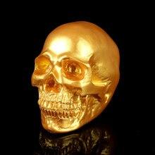 NEW Fashion Men Biker Punk Emulation Human skull bones Creative action figure toys Skeleton model decor Aquarium ornaments Gift