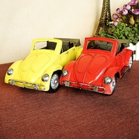 Large handmade metal car model 1938 Beetle retro ornaments decorations