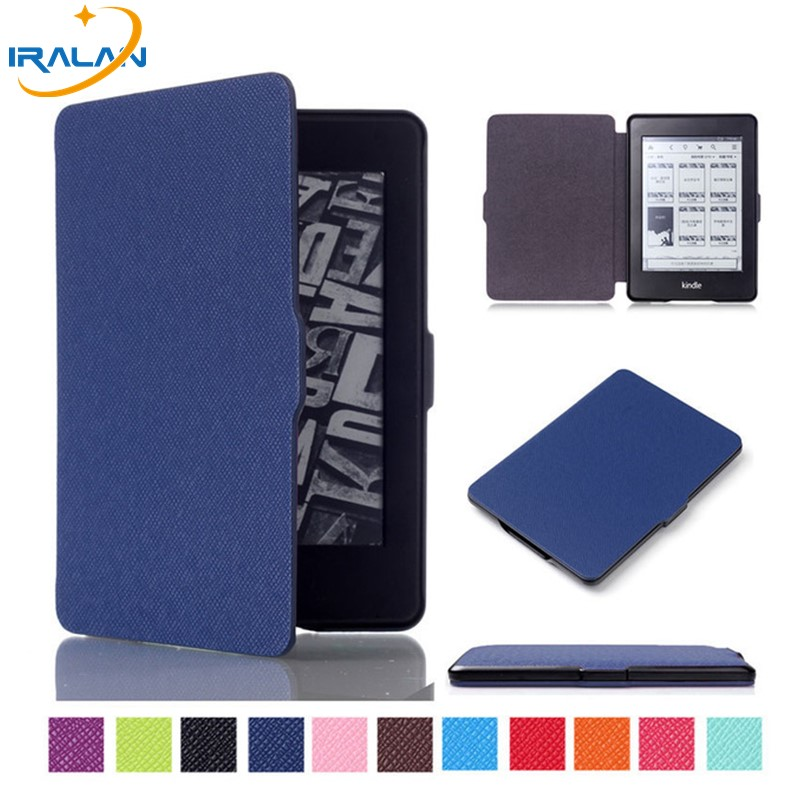 PU Leather Ultra thin Case For Amazon Kindle Paperwhite 123 smart Magnetic Design Cover for Kindle 958 6th generation+free pen upaitou flip case for amazon kindle paperwhite 1 2 3 cover for kindle 958 6th generation tablet case leather smart coque