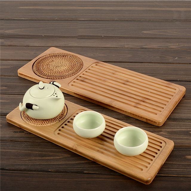 Japanese wooden tea tray saucer for kung fu tea Coffee Kettle Teapot Storage Cutlery tray Service ceremony tool Samovar small