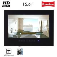 Souria 15 6inch Sauna Room Waterproof LED Bathroom Luxury Hotel LED TV DTV DVB T2 Black
