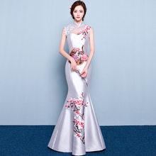 c2fcce21d980 Cerimonia Nuziale di modo Del Partito Cheongsam Oriental Vestito Da Sera  Delle Donne di Stile Cinese