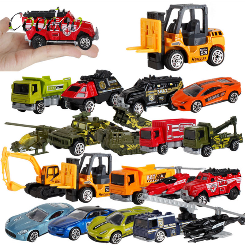 5pcs/set Alloy Engineering Vehicle Model An Excavator Blender Children's Toys Car Model Gifts For Boys girls A12