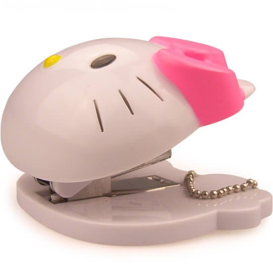 Free shipping, Hello Kitty Cute Mini book stapler stapling machine book stitcher Office gift, Mix color order 10 pcs/lot