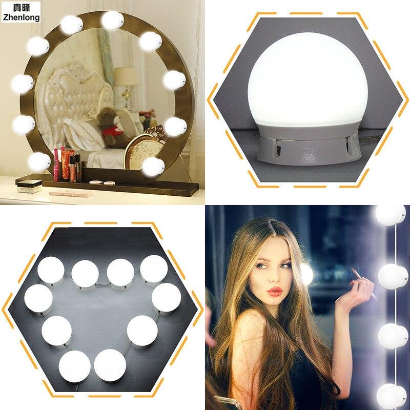 Nouveau miroir lumière 10 W cosmétique miroir LED ampoule lampe Post remplissage lampe décoration applique hôtel/KTV/Bar/toilette lumière