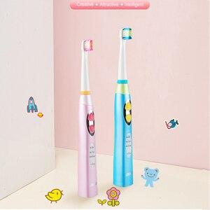 Image 2 - Seago 소닉 칫솔 어린이 방수 브러쉬 치아 전기 치과 브러쉬 3 12 세 어린이 전동 칫솔 ek8
