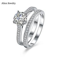 SVR116 2016 New 100 Real Pure 925 Sterling Silver Ring AAA Zircon Party Engagement Wedding Rings