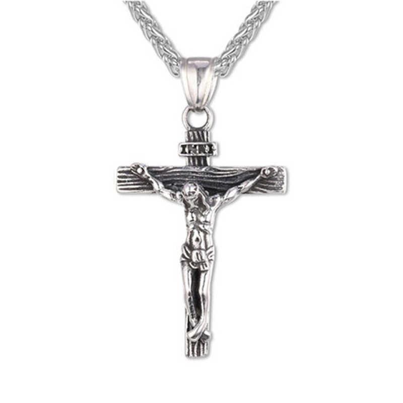Пасха в стиле «панк» состояние Для мужчин t ожерелье с крестом крест Иисуса Христа кулон Цепочки и ожерелья ювелирные изделия Религиозные ювелирные украшения с христианской символикой, для Для женщин Для мужчин