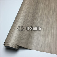 Teak Wooden Grain Vinyl Decal Wrap Film For Kitchen Furniture Car Interior Size:1.24X50m/Rol