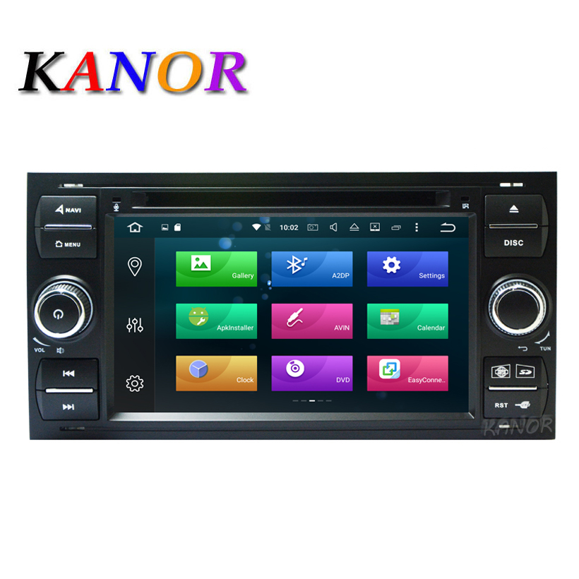 Android 8.0 Octa core RAM 4+32g 2din Car Radio Stereo For Ford Mondeo S-max Focus C-MAX Galaxy Fiesta Form Fusion Connect PC