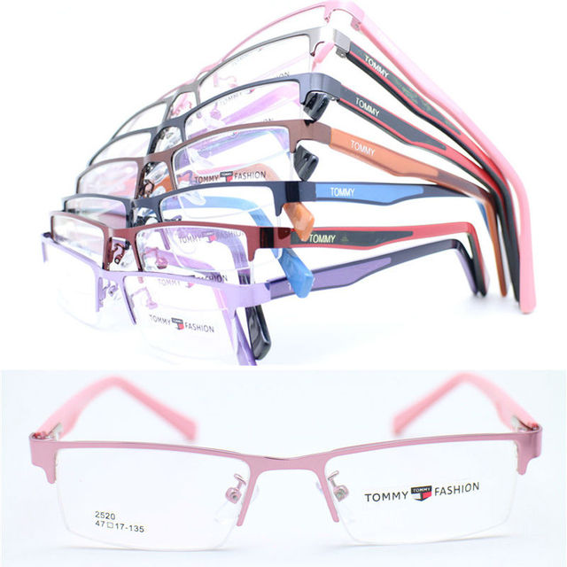 8c5945ed6e3f Wholesale 2520 lady stylish dual color acetate flexi temple metal rectangle  half-rim optical eyeglass frames free shipping