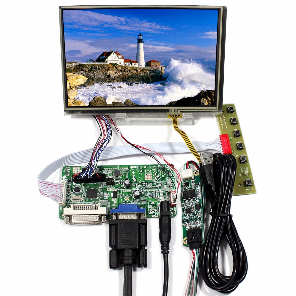 DVI VGA LCD Control Board With 7inch N070ICG-LD1 1280x800 IPS LCD With Touch Panel hdmi dvi vga lcd control board 14 1inch lp141wx3 1280 800 lcd panel touch pael