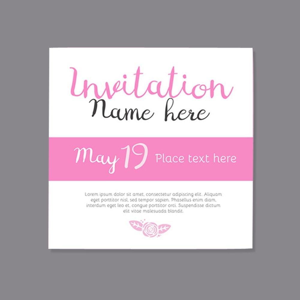 Pink Bridal Shower Invitation Hot Pink Wedding Invitation Girls ...