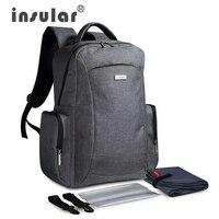 Nuevo estilo gran capacidad multifuncional bebé pañal bolsa mochila Mommy bag bolso del panal mochila incluye plástico servilleta