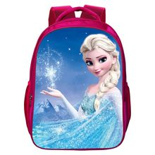 2017 New Style Kids School Backpack 16-inches Printing Cartoon Anna Elsa Children School Bags for Girls Backpacks Tenns Bookbag(China)