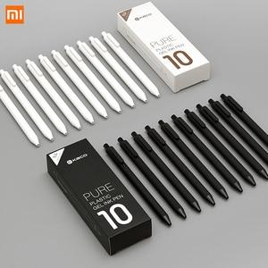 Image 1 - 10 ชิ้น/ล็อต Xiao mi KACO 0.5 มม. Xiao mi mi ปากกา Gal หมึกเขียนลายเซ็นสีดำเติมเงินไม่ปากกา roller ball ปากกา